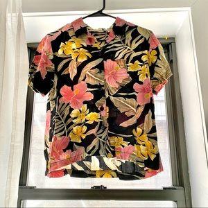 Cropped Hawaiian shirt